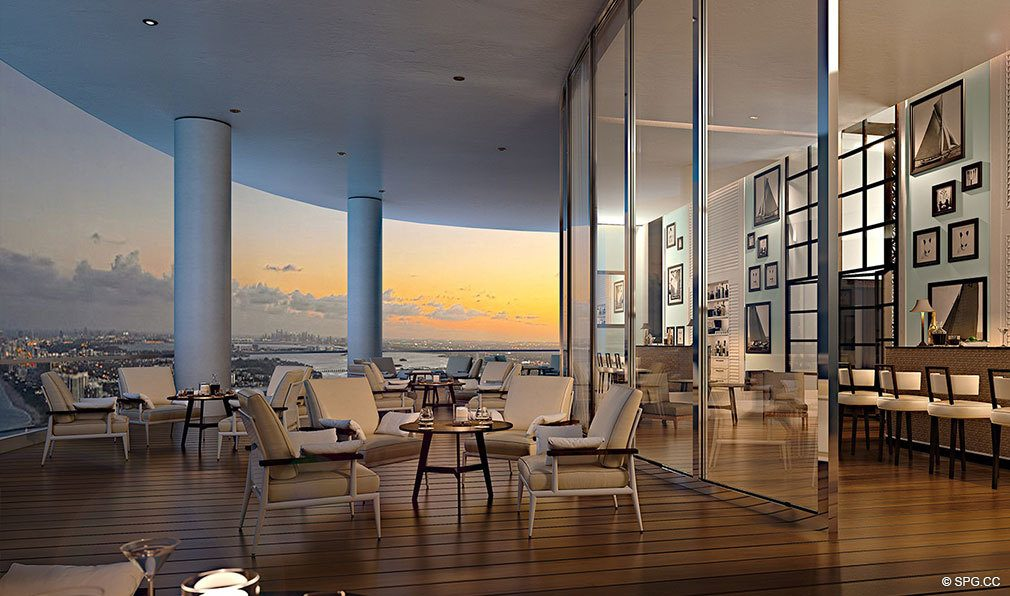 Clubroom at Sunset at Ritz-Carlton Residences Sunny Isles Beach, Luxury Oceanfront Condos in Sunny Isles Beach, Florida 33160