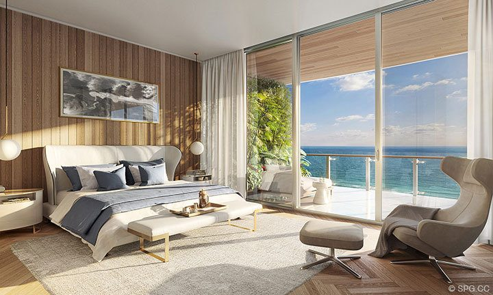 Residence Bedroom of 57 Ocean, Luxury Oceanfront Condos in Miami Beach
