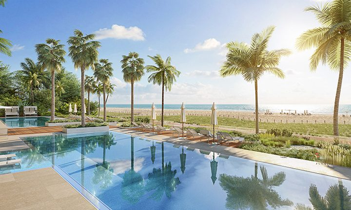 Poolside of 57 Ocean, Luxury Oceanfront Condos in Miami Beach