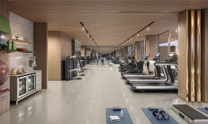 Gym of 57 Ocean, Luxury Oceanfront Condos in Miami Beach