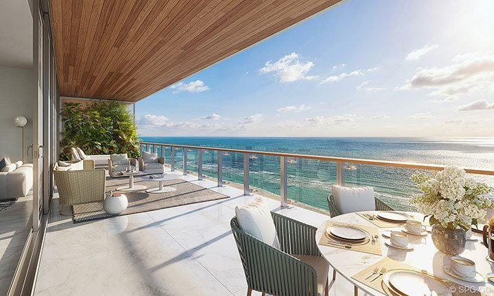 Residence Balcony of 57 Ocean, Luxury Oceanfront Condos in Miami Beach