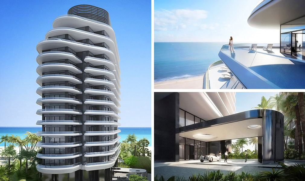 Faena House, Luxury Oceanfront Condominiums Located at 3201 Collins Avenue, Miami Beach, Florida 33140