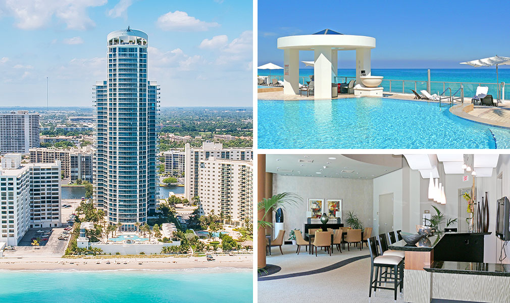 Ocean Palms, Luxury Oceanfront Condominiums Located at 3101 South Ocean Drive, Hollywood Beach, Florida 33019