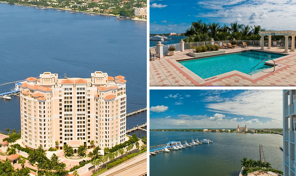 One Watermark Place, Luxury Waterfront Condominiums Located at 622 North Flagler Drive, West Palm Beach, Florida 33401