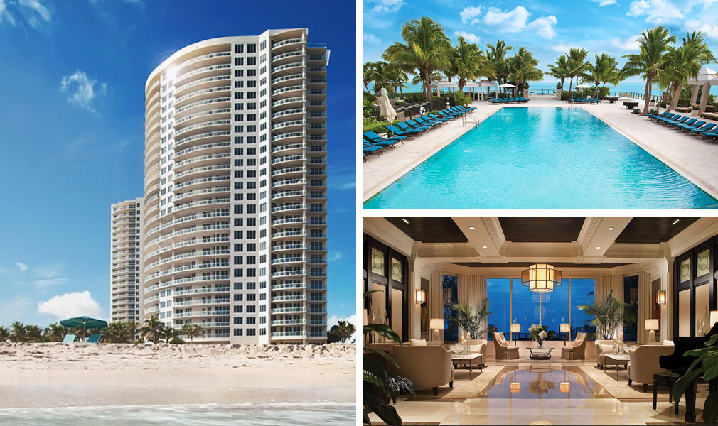 Ritz-Carlton Residences, Luxury Oceanfront Condominiums Located at 2700 North Ocean Drive, Singer Island, Florida 33404