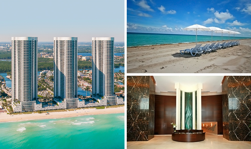 Trump Towers, Luxury Oceanfront Condominiums Located at 15811-16001 Collins Avenue, Sunny Isles Beach, Florida 33160