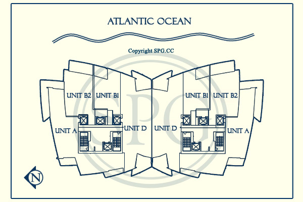 Siteplan for Jade Ocean, Luxury Oceanfront Condominiums Located at 17121 Collins Avenue, Sunny Isles Beach, Florida 33160