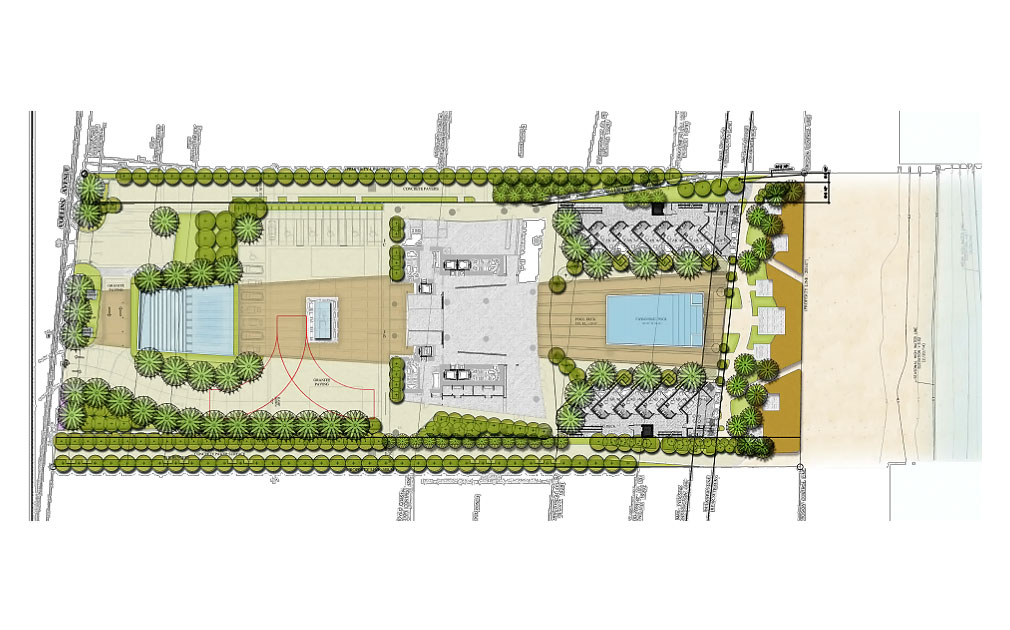Siteplan for Turnberry Ocean Club, Luxury Oceanfront Condominiums Located at 18501 Collins Avenue, Sunny Isles Beach, Florida 33160