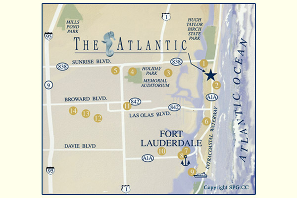 Siteplan for The Atlantic, Luxury Oceanfront Condominiums Located at 601 North Fort Lauderdale Beach Blvd, Fort Lauderdale, Florida 33304