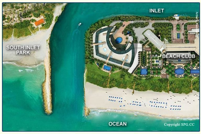 Siteplan for One Thousand Ocean, Luxury Oceanfront Condominiums Located at 1000 South Ocean Boulevard, Boca Raton, Florida 33432