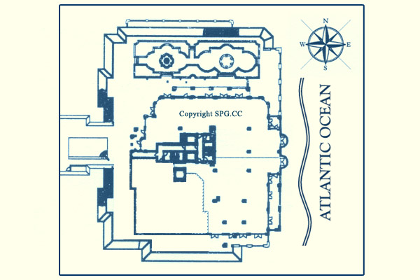 Siteplan for The Excelsior, Luxury Oceanfront Condominiums Located at 400 South Ocean Boulevard, Boca Raton, Florida 33432