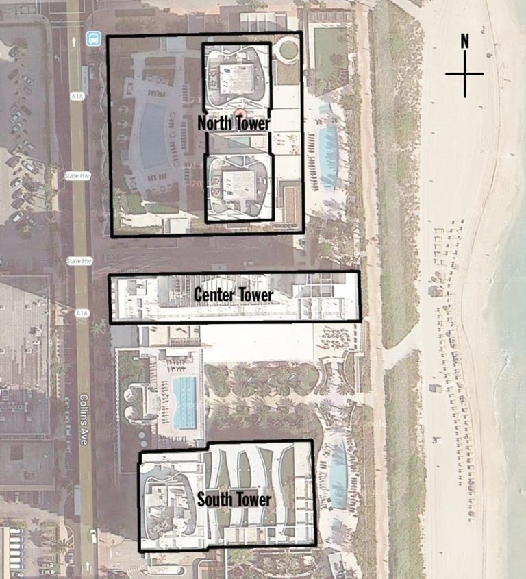Siteplan for Canyon Ranch Living, Luxury Oceanfront Condominiums Located at 6799-6899 Collins Avenue, Miami Beach, Florida 33141