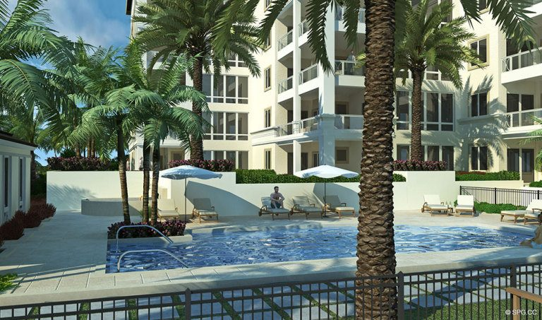 Pool Deck at 4001 North Ocean, Luxury Oceanfront Condominiums Located at 4001 North Ocean Boulevard, Gulf Stream, FL 33483