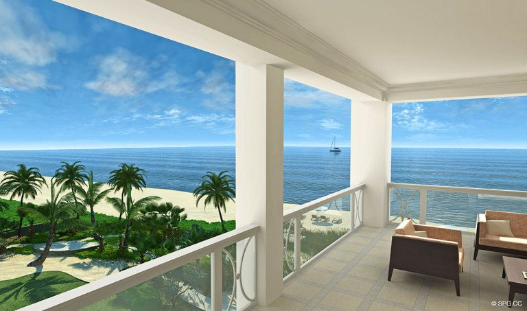 Spacious Terraces at 4001 North Ocean, Luxury Oceanfront Condominiums Located at 4001 North Ocean Boulevard, Gulf Stream, FL 33483