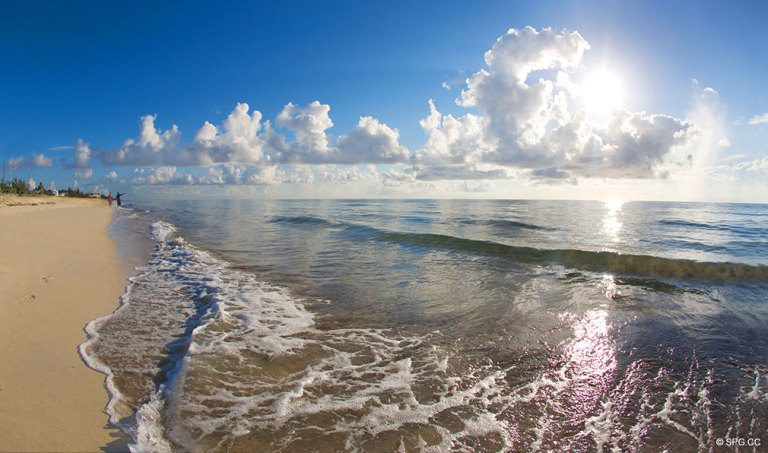 Beach at 4001 North Ocean, Luxury Oceanfront Condominiums Located at 4001 North Ocean Boulevard, Gulf Stream, FL 33483