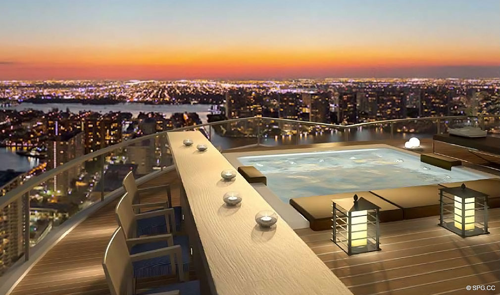 Rooftop at Chateau Beach Residences, Luxury Oceanfront Condominiums Located at 17475 Collins Ave, Sunny Isles Beach, FL 33160