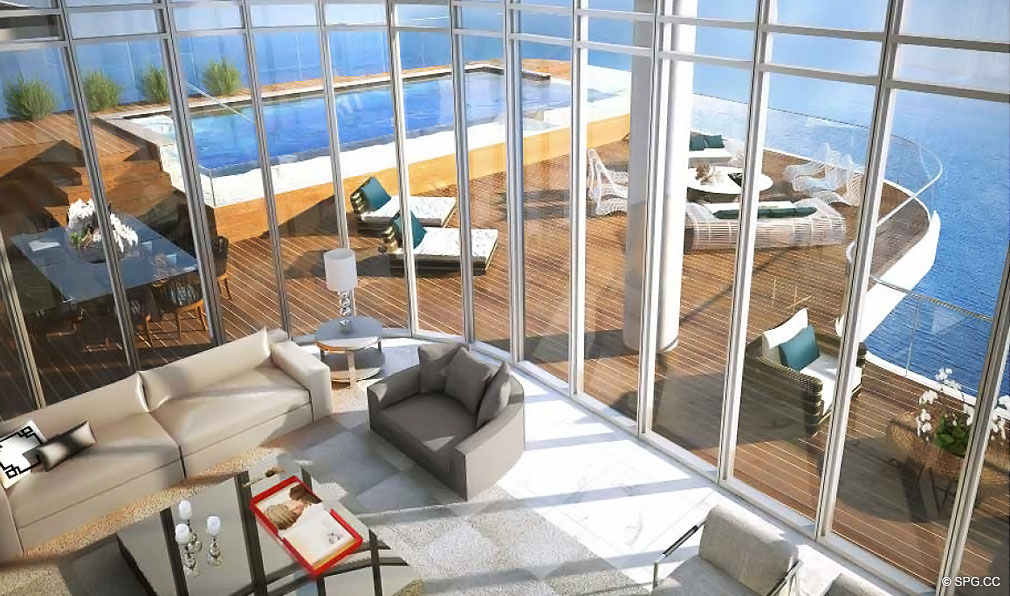Penthouse at Chateau Beach Residences, Luxury Oceanfront Condominiums Located at 17475 Collins Ave, Sunny Isles Beach, FL 33160