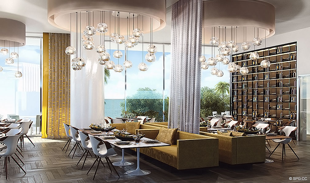 Lavish Social Spaces inside Turnberry Ocean Club, Luxury Oceanfront Condos Located at 18501 Collins Avenue, Sunny Isles Beach, Miami 33160