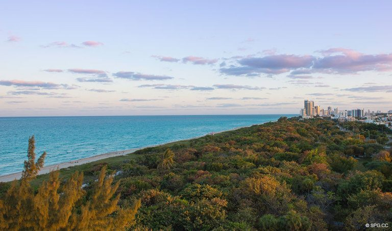 View of North Shore Park in Miami Beach from Eighty Seven Park luxury condos