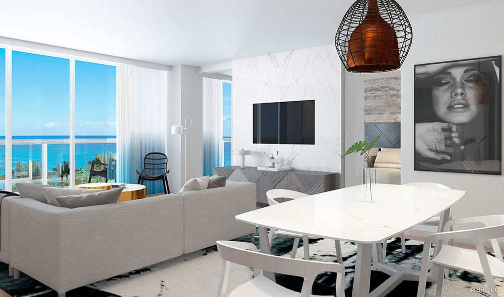 The w fort lauderdale luxury oceanfront condos in fort for W living room fort lauderdale