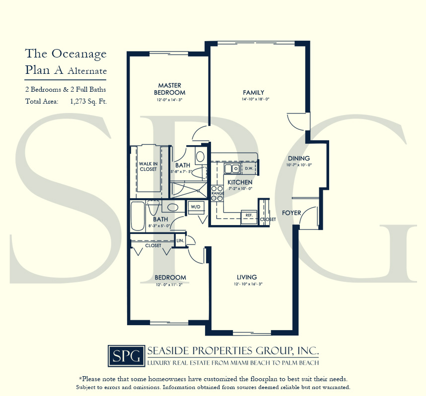 Residence A Alternate Floorplan at The Oceanage Luxury Waterfront Condo on Fort Lauderdale Beach