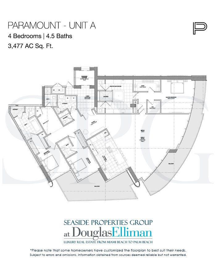 Paramount Floor Plans Luxury Oceanfront Condos In Fort Lauderdale