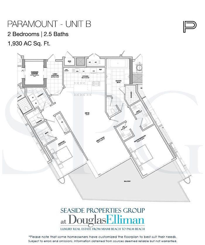 Two Bedroom Suites In Miami: Paramount Floor Plans, Luxury Oceanfront Condos In Fort