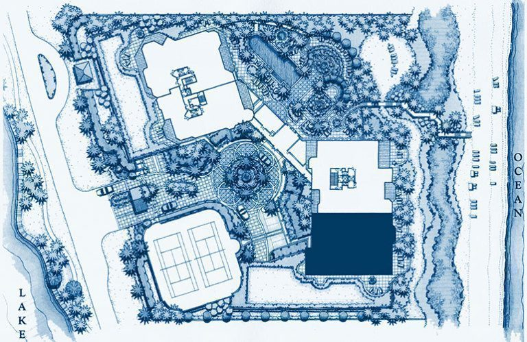 Siteplan for Penthouse 7 at Bellaria, Luxury Oceanfront Condominiums in Palm Beach, Florida 33480.