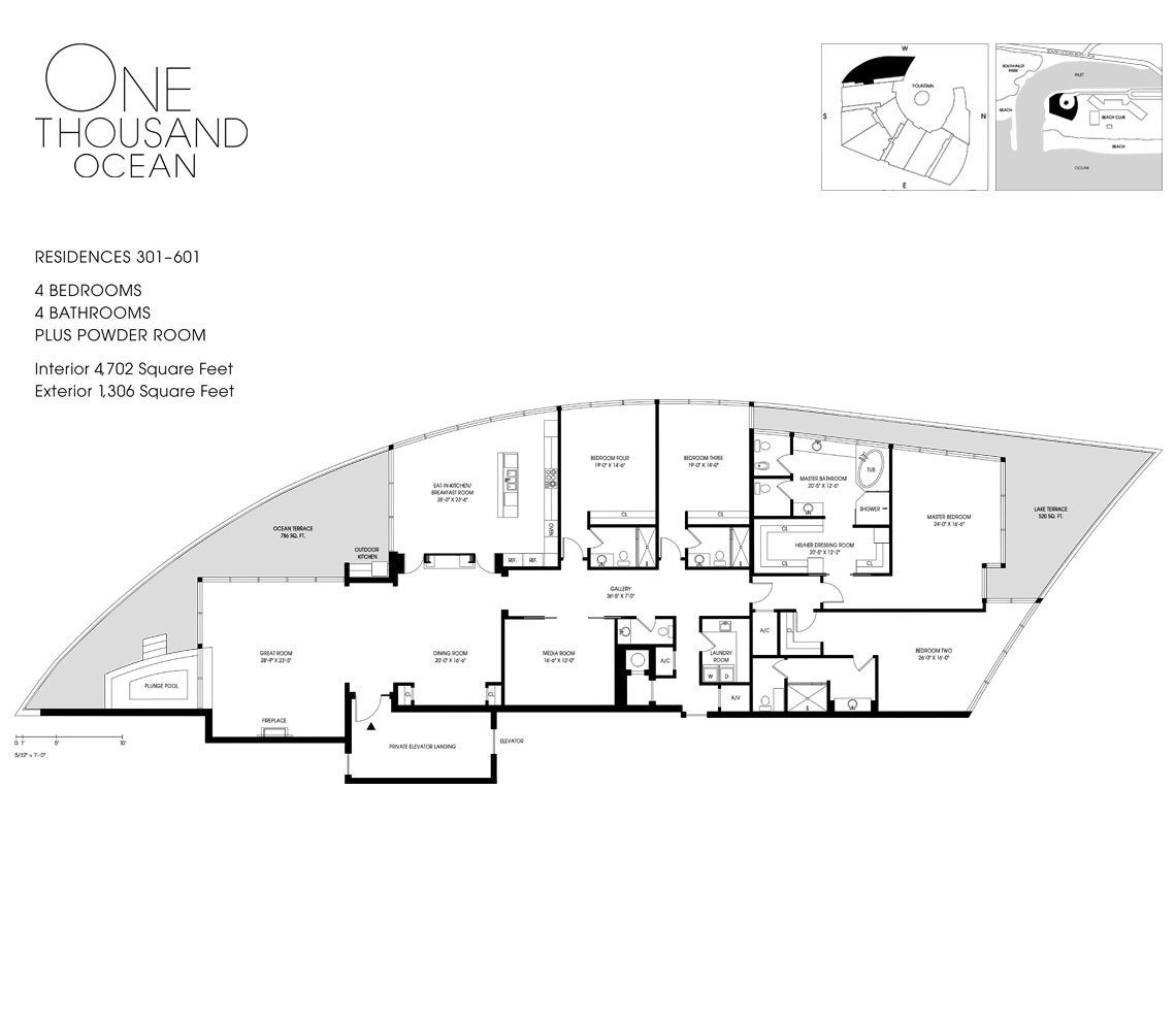 Residence 501 For Sale at 1000 Ocean Luxury Oceanfront Condos in