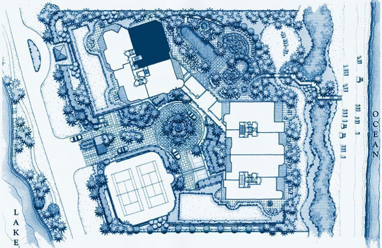 Siteplan for Residence 304 at Bellaria, Luxury Oceanfront Condominiums in Palm Beach, Florida 33480.