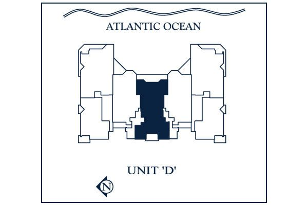 Siteplan for Residence 803 at Las Olas Beach Club, Luxury Oceanfront Condominiums in Fort Lauderdale, Florida 33316