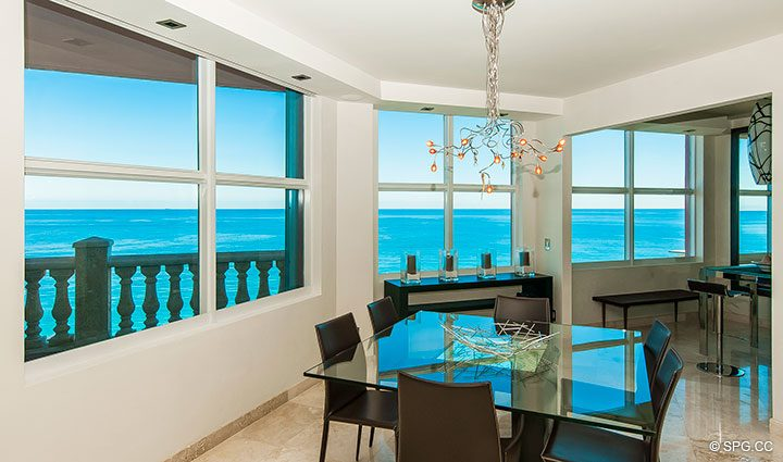 Amazing Ocean Views from Residence 11B, Tower I at The Palms, Luxury Oceanfront Condominiums Fort Lauderdale, Florida 33305
