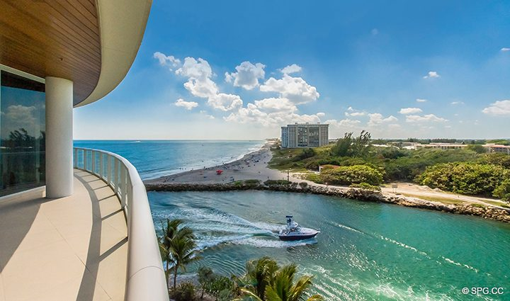 Gorgeous Terrace Views from Residence 501 For Sale at 1000 Ocean, Luxury Oceanfront Condos in Boca Raton, Florida 33432.