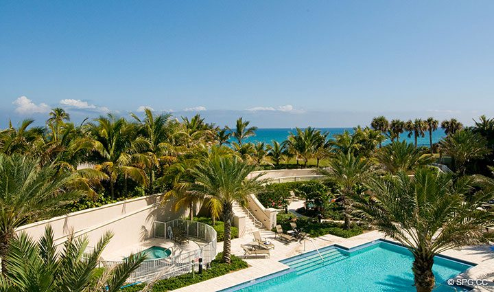 Ocean View from Residence 304 at Bellaria, Luxury Oceanfront Condominiums in Palm Beach, Florida 33480.