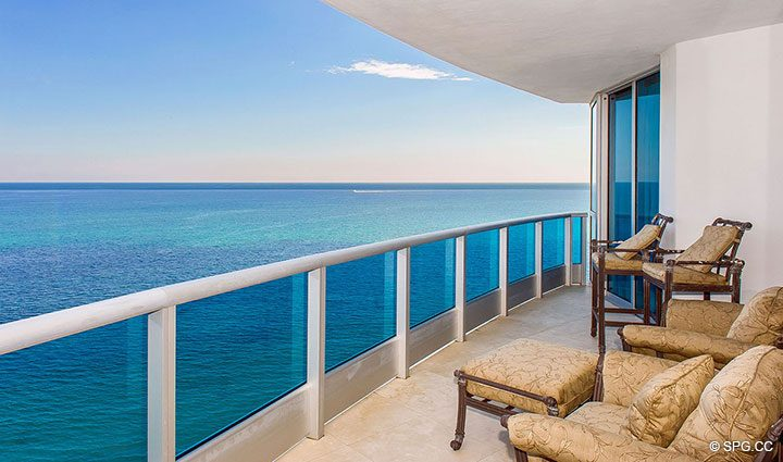 Spacious Terrace at Residence 1204 For Sale at Aquazul, Luxury Oceanfront Condominiums Lauderdale by the Sea, Florida 33062