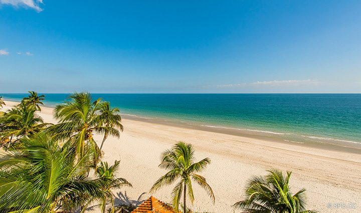 Spectacular Beach Views from Oceanfront Villa 1 at The Palms, Luxury Oceanfront Condominiums Fort Lauderdale, Florida 33305