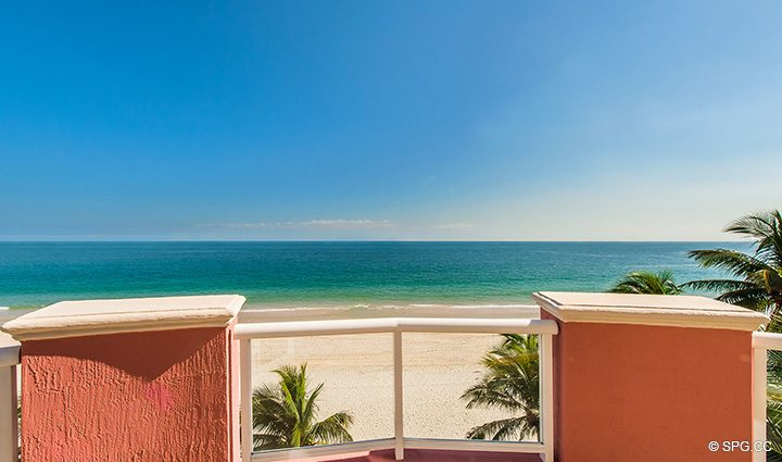Infinite Ocean Views from Oceanfront Villa 1 at The Palms, Luxury Oceanfront Condominiums Fort Lauderdale, Florida 33305