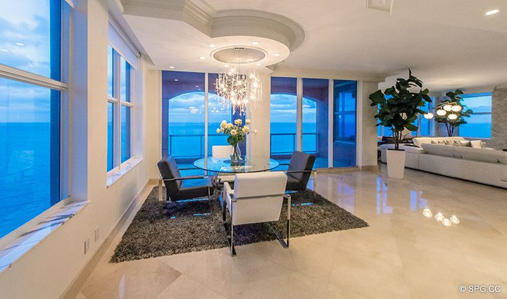 Stunning Ocean Views from Penthouse Residence 26A, Tower I at The Palms, Luxury Oceanfront Condos in Fort Lauderdale, Florida 33305.