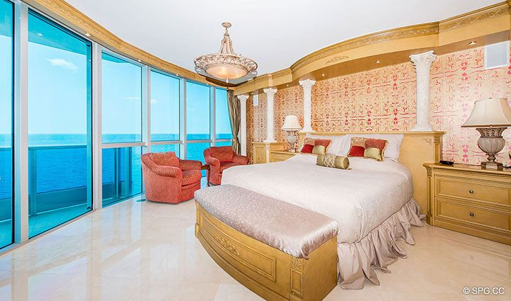 Master Suite inside Residence 1204 For Sale at Aquazul, Luxury Oceanfront Condominiums Lauderdale by the Sea, Florida 33062
