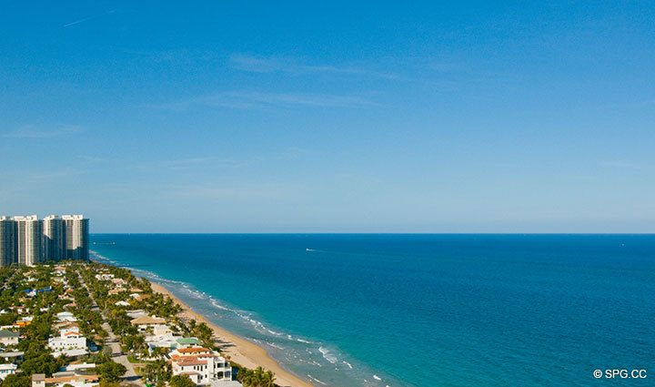 NE Ocean View at Luxury Oceanfront Residence at 25D, Tower II, The Palms Condominium, 2110 North Ocean Boulevard, Fort Lauderdale Beach, Florida 33305, Luxury Seaside Condos, The Palms in  Fort Lauderdale