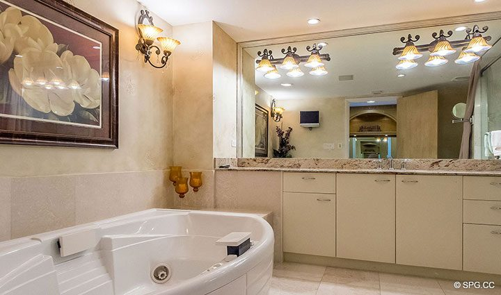 Relaxing Master Tub in Residence 1204 For Sale at Aquazul, Luxury Oceanfront Condominiums Lauderdale by the Sea, Florida 33062