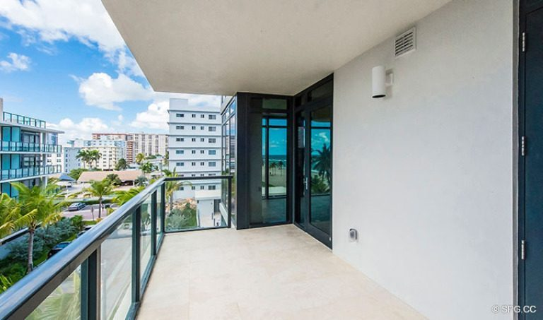 Private Terrace for Residence 4B at Sage Beach, Luxury Oceanfront Condominiums in Hollywood, Florida 33019