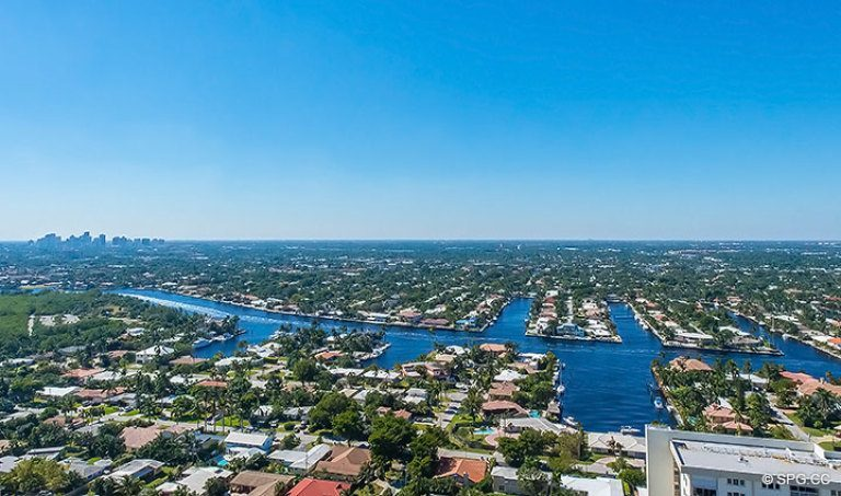 Fabulous Intracoastal View from Grand Penthouse 30A, Tower II at The Palms, Luxury Oceanfront Condos in Fort Lauderdale, South Florida 33305