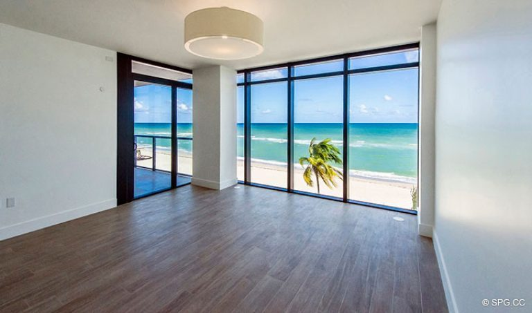 Master Bedroom inside Residence 4B at Sage Beach, Luxury Oceanfront Condominiums in Hollywood, Florida 33019