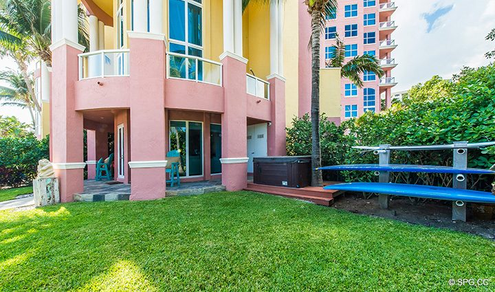 Private Back Yard for Oceanfront Villa 1 at The Palms, Luxury Oceanfront Condominiums Fort Lauderdale, Florida 33305