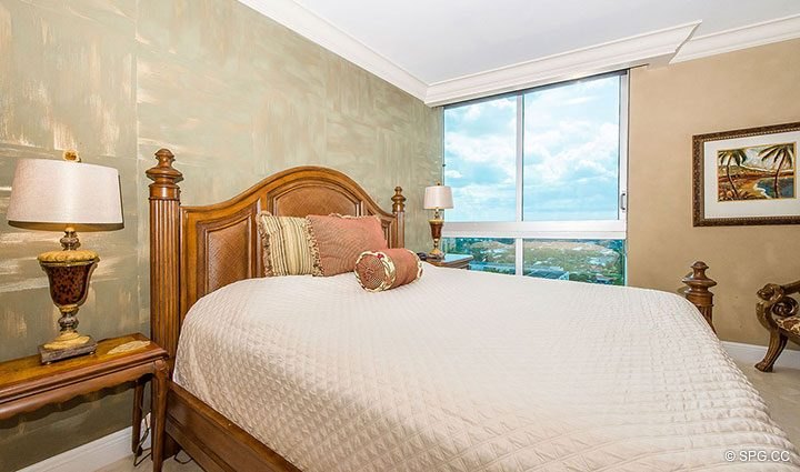 Guest Bedroom in Residence 1204 For Sale at Aquazul, Luxury Oceanfront Condominiums Lauderdale by the Sea, Florida 33062