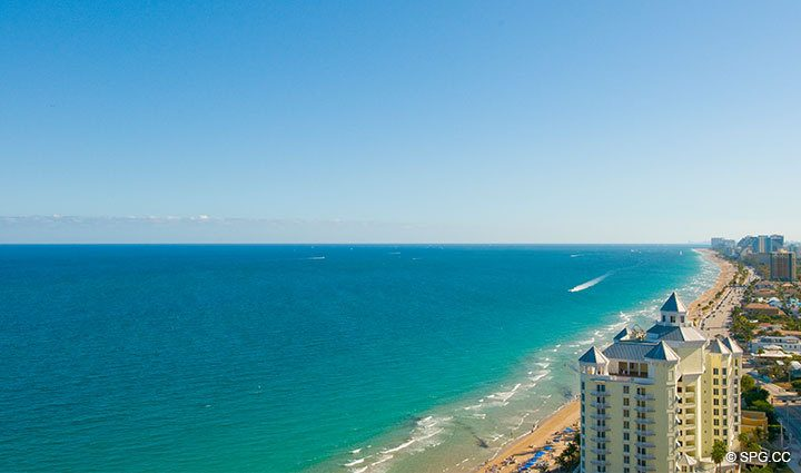 Ocean Views at Luxury Oceanfront Residence at 25D, Tower II, The Palms Condominium, 2110 North Ocean Boulevard, Fort Lauderdale Beach, Florida 33305, Luxury Seaside Condos, The Palms Tower II in Florida