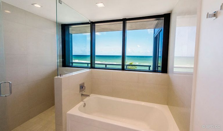 Master Bathroom inside Residence 4B at Sage Beach, Luxury Oceanfront Condominiums in Hollywood, Florida 33019