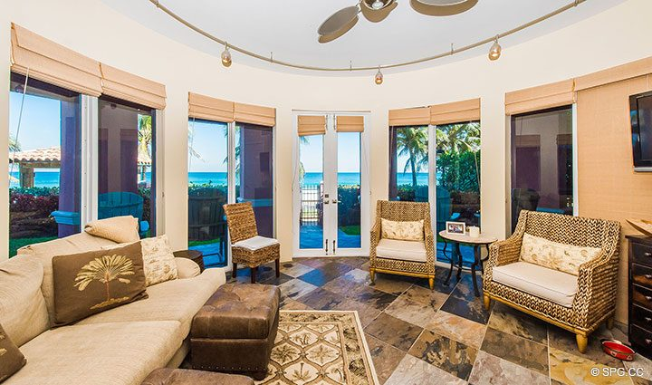 Ground Floor Cabana at Oceanfront Villa 1 at The Palms, Luxury Oceanfront Condominiums Fort Lauderdale, Florida 33305
