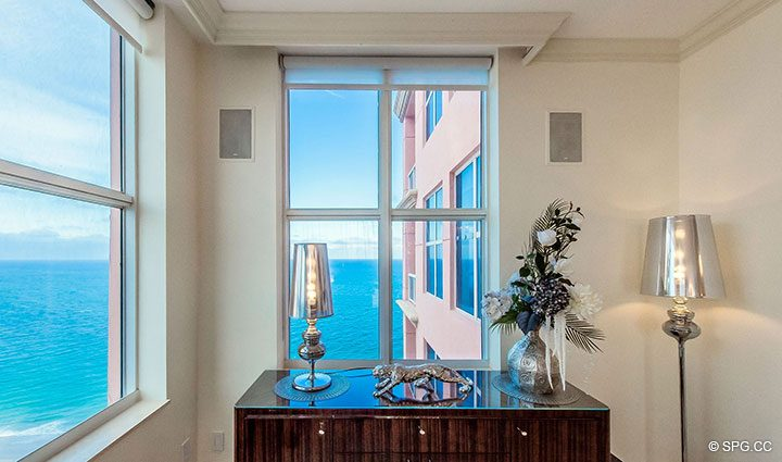 Ocean Views Abound from Penthouse Residence 26A, Tower I at The Palms, Luxury Oceanfront Condos in Fort Lauderdale, Florida 33305.